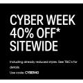 Calvin Klein - Cyber Week 2020 Sale: 40% Off Storewide Incld. Already Reduced Styles (code)