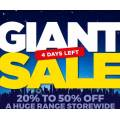 Spotlight - Giant Sale: 30%-50% Off A Huge Range of Items Storewide - Starts Today
