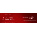 David Jones - Further Markdowns: Extra 40% Off Already Reduced Homeware Items (Up to 70% Off) e.g. CALVIN KLEIN Satin White Flat Sheet $89.4 (Was $449) etc.
