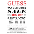 Guess Sydney Warehouse Sale! 4 Days only