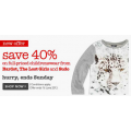 40% off on Full priced Childrenswear @ David Jones!