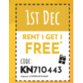 Video Ezy: 12 Days of Christmas: DAY 1: Rent 1 Movie Get 1 Free (code)