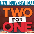 Dominos - 2 For 1 Tuesdays: Buy One Get One Free Pizzas (code)! Today Only