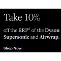 David Jones - Daily Deal: Take 10% Off the RRP of the Dyson Supersonic and Airwrap - Today Only