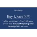 David Jones - 4 Days Sale: Buy One Get 50% Off 2nd Men's Full Priced Fashion Clothing
