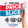 Dominos - Price Slice Sale: Large Value $8 | Large Traditional $10 | Large Premium Pizza $12 Delivered (code)! Today Only