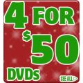 4 for $50 DVDs at Sanity - Over 950 DVDs to choose from  + Free Shipping