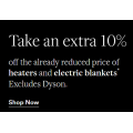 David Jones - Daily Deal: Take an extra 10% Off the Already Reduced Price of Heaters & Electric Blankets