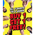 EB Games - New Year Sale: Buy 1 T-Shirt $15 & Under Get 1 Free