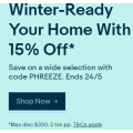 eBay - Winter Sale: 15% Off 69+ Selected Sellers (code)! Max. Discount $300