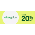 eBay - Flash Sale: 20% Off | 22% Off Plus Members at Selected Retailers (code)! Max. Discount $1000
