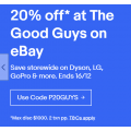 eBay The Good Guys - 20% Off Storewide + Notable Offers (code)