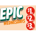 7-Eleven - Epic Wednesday Deals: $1 Cheezels & French Fries or Snickers Crisper Bar; $2 V varieties, Sour Patch Lolly Bag, 7-Eleven Topped Muffins & More