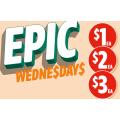 7-Eleven - Epic Wednesday Offers: 45.5g Mars Caramel Sundae Medium Bar $1; 108-135g Cadbury Choc Bag Varieties $2; Slow Cooked Beef Pie $3 etc.