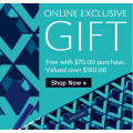 Free $180 Gift on $70+ Purchases at Estee Lauder - While Stocks Last!
