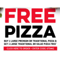 Dominos - Buy One Large Pizza Get One Free (code)! Today Only