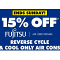 The Good Guys - 15% Off Fujitsu Reverse Cycle & Cool Only Air Cons (code)