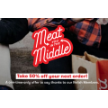 Grill'd - Meat You In The Middle: 50% Off First Order + Free Delivery - Valid until Sun 12th April