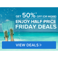 Hotels..com - Half Price Fridays: Minimum 50% Off Hotel Booking