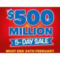 Harvey Norman - $500 Million 5-Day Sale - Starts Today