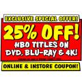 JB Hi-Fi - 25% Off HBO Titles On DVD, Blu-Ray & 4K (code)