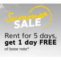 Hertz - Rent for 5 Days Get 1 Day Free (code)