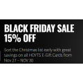 HOYTS Cinema - Black Friday / Cyber Monday Sale: 15% Off E-Gift Cards & Free Delivery (Today Only)