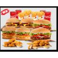 Hungry Jacks - Feast Bundle Medium $43.95 (Nationwide)