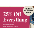 Hush Puppies - 60 Hours Sale: 25% Off Everything (In-Store & Online)