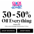 Hush Puppies - Click Frenzy 2019: 30-50% Off Everything (In-Store & Online)