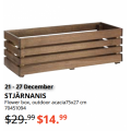 IKEA - Latest Boxing Day 2020 Clearance: Up to 80% Off e.g. Plant Pot $1.49; STJÄRNANIS Flower Outdoor Flower Box $14.99 (Was $29.99) etc.