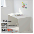 IKEA -  February Frenzy Sale: Up to 60% Off Clearance Items + Extra $10 (code) e.g. ALTAPPEN Floor Decking, Outdoor $2/9 Pack (Was $16.99); STUVA Bench $29 (Was $49) etc.