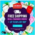 Chemist Warehouse - Up to 80% Off Fragrances + Free Shipping (No. Minimum Spend)
