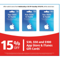 Aldi - 15% Off $30; $50 & $100 App Store & iTunes Gift Cards