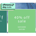 Jeanswest - Afterpay Day Sale: Take a Further 40% Off Sale Items (In-Store & Online)