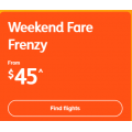 Jetstar - Weekend Fare Frenzy: Domestic Flights from $45 + Fly to New Zealand $207 RTN