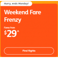 Jetstar - Weekend Fare Frenzy: Domestic Flights from $29 +  Fly to Bali $216; New Zealand $261 Return etc.