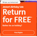 Jetstar - Birthday Sale: FREE Return Flights - Domestic Fares from $55: Fly to Melbourne $55; Sydney $55; Adelaide $59; Gold Coast $77 etc.