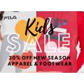FILA - Long Weekend Flash Sale: 30% Off Kids Apparel & Footwear (code)! 4 Days Only