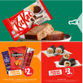 7-Eleven - Epic Wednesday Sale: $1 Double Cookies and Cream Kit Kat; 250ml Red Bull Peach Edition $2; Sushi Twin Pack $3 etc.