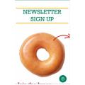 Krispy Kreme - Sign-Up Newsletter & Get a Free  Original Glazed Doughnut