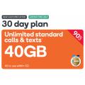 Kogan - 92% Off 30 Days Unlimited Talk & Text 40GB Plan + FREE SIM Card $4.90 (Was $69.90)! New Customers Only