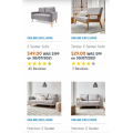 KMART - Online Exclusive Deals: Timber 2 Seater Sofa $29 (Was $99) | 2 Seater Sofa $49 (Was $199) | Harrison 3 Seater Sofa $99 (Was $389)