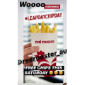 Red Rooster - Leap Chip Day - Free Regular Chips for Everyone! Sat 29th Feb