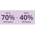 Clearly - Weekend Sale: Up to 70% Off Frames + Extra 40% Off Lenses (code)