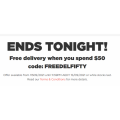 Liquorland - Free Delivery Sitewide - Minimum Spend $50 (code)