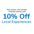 Deals.com - 10% Off Local Experiences - Minimum Spend $49 (code)! 2 Days Only