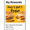 McDonald's - Buy One Quarter Pounder Get 1 Free via mymacca's App - Valid until Tues 23rd July