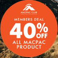 Macpac - Members Offer: 40% Off Macpac Gear (In-Store & Online)