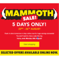 Harvey Norman - Mammoth Sale - 5 Days Only [Over 1020 Bargains]